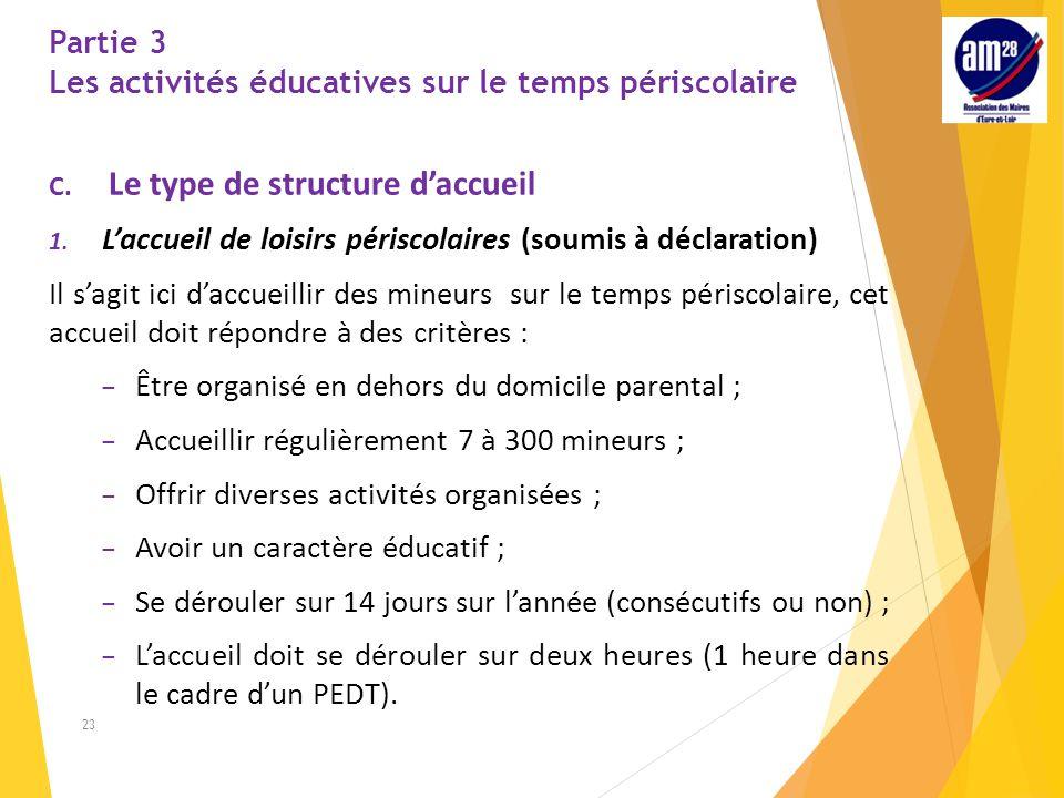 Partie 3 Les activités éducatives sur le temps périscolaire C.