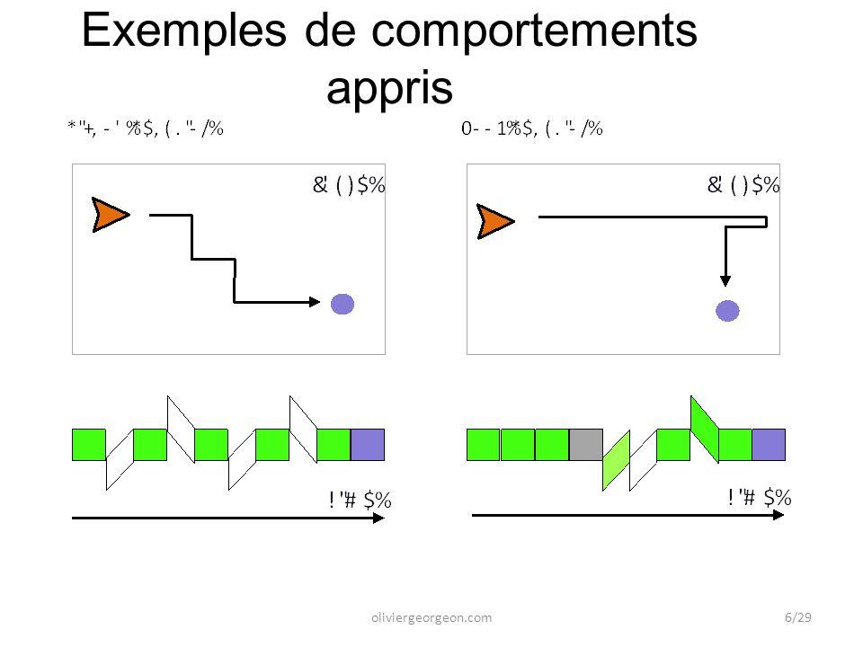 Exemples de comportements appris oliviergeorgeon.com6/29