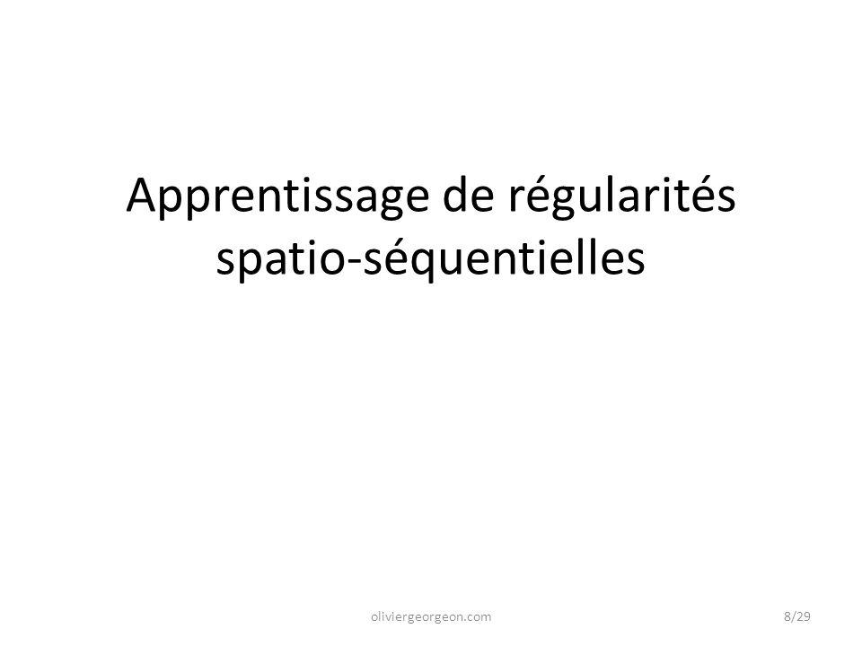 Apprentissage de régularités spatio-séquentielles oliviergeorgeon.com8/29