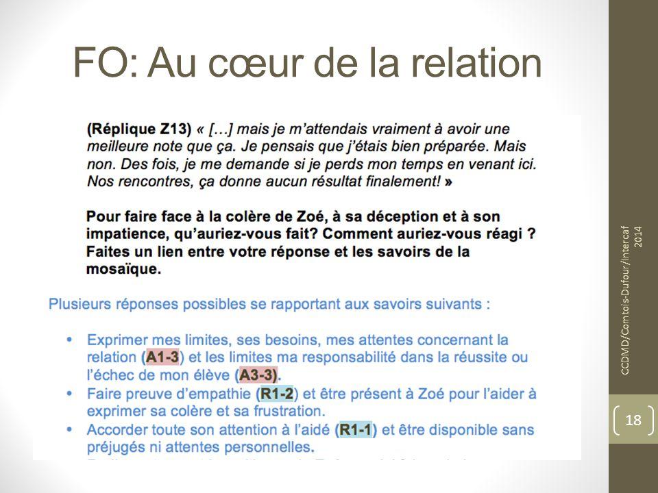 FO: Au cœur de la relation CCDMD/Comtois-Dufour/Intercaf 2014 18