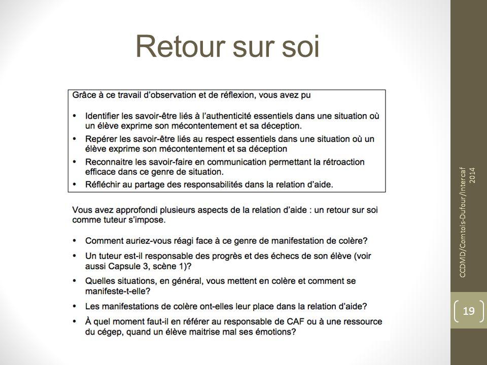 Retour sur soi CCDMD/Comtois-Dufour/Intercaf 2014 19