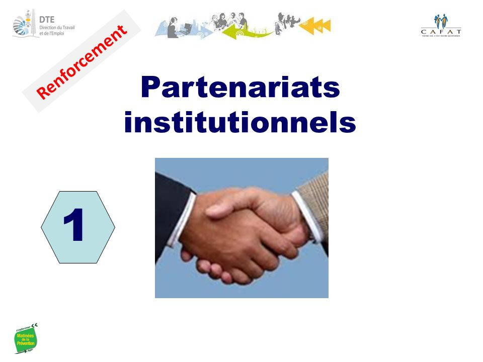 Partenariats institutionnels Renforcement 1