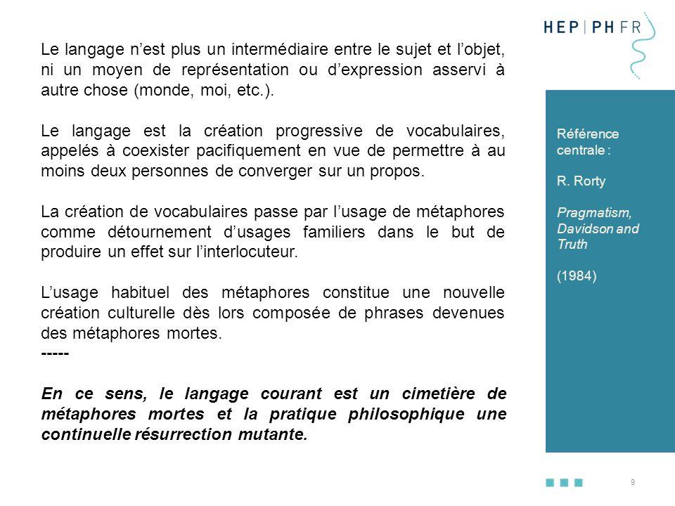 10 A) 3.Quelle conception du langage .