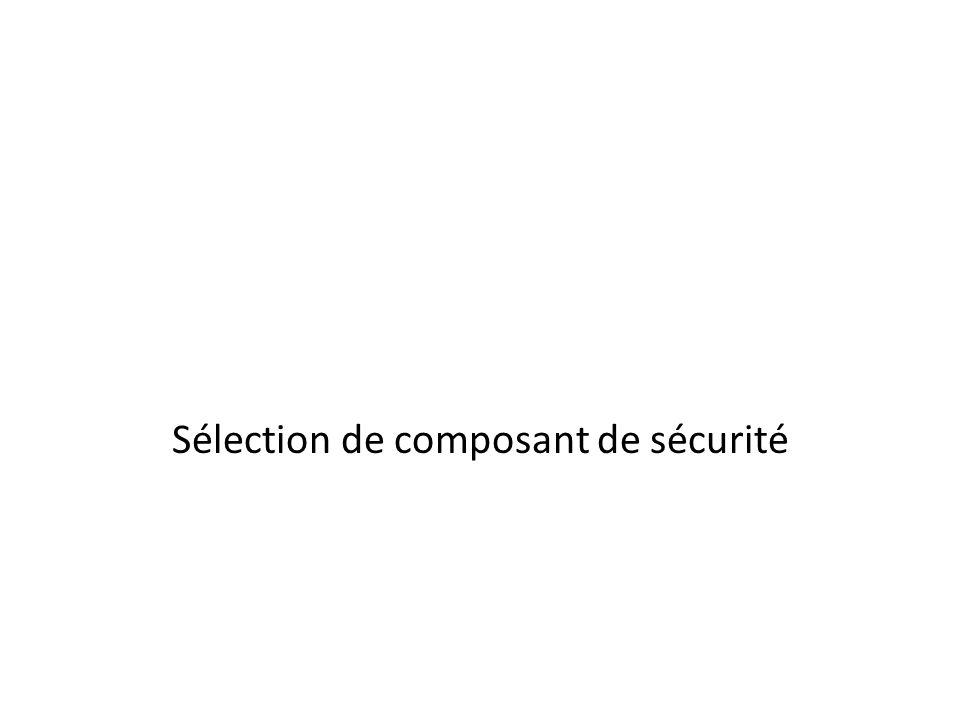 Sélection de composant de sécurité