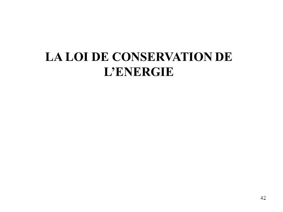 42 LA LOI DE CONSERVATION DE L'ENERGIE