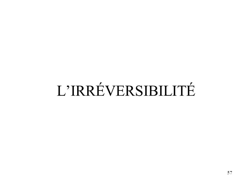 57 L'IRRÉVERSIBILITÉ