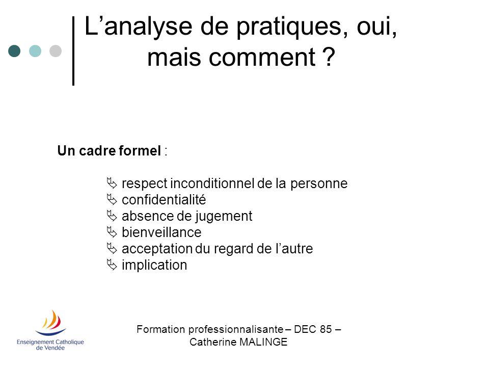 Formation des Suppléants– DEC 85 – Catherine MALINGE Fonctions :- écoute - Clarification - proposition - aide