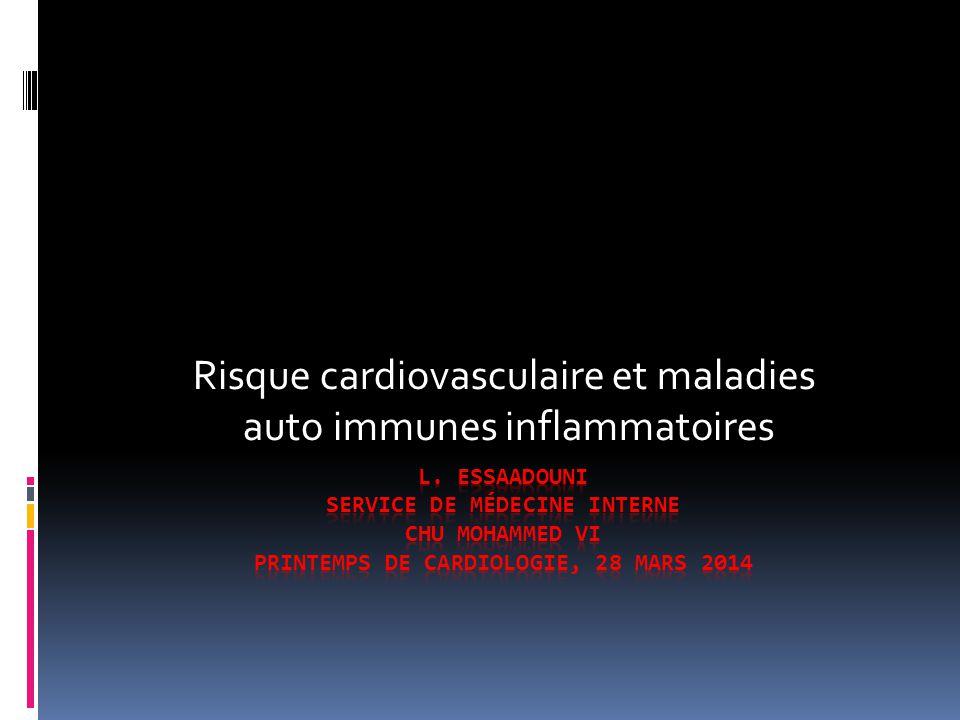 Risque cardiovasculaire et maladies auto immunes inflammatoires
