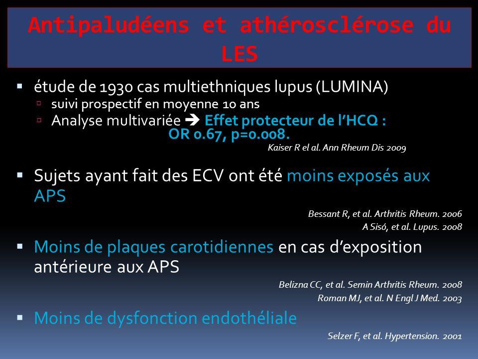 Antipaludéens et athérosclérose du LES  étude de 1930 cas multiethniques lupus (LUMINA)  suivi prospectif en moyenne 10 ans  Analyse multivariée 