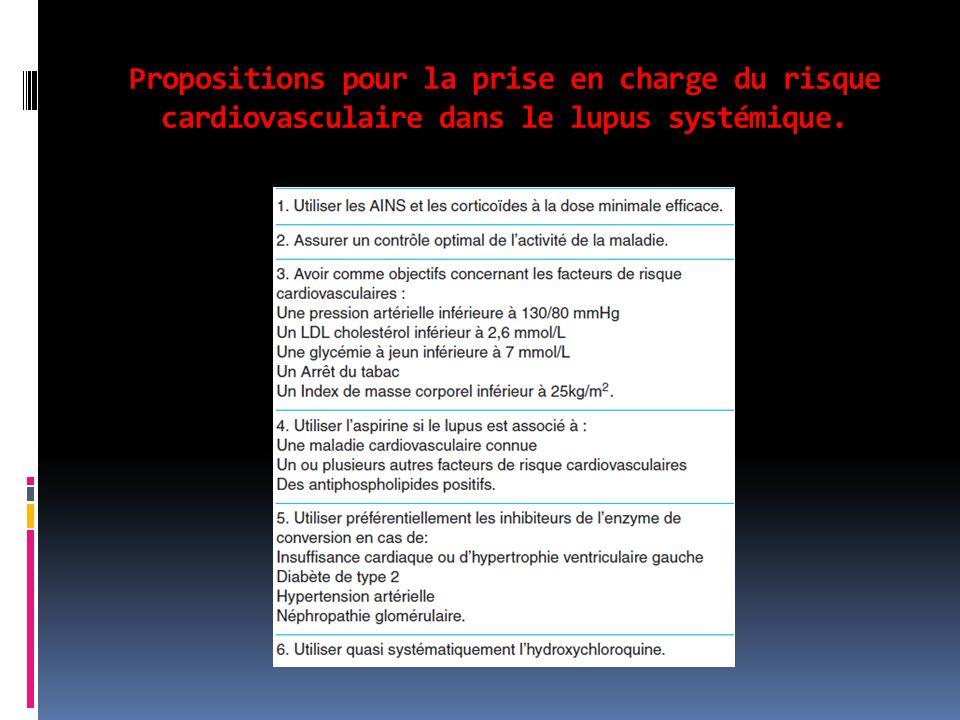 Propositions pour la prise en charge du risque cardiovasculaire dans le lupus systémique.