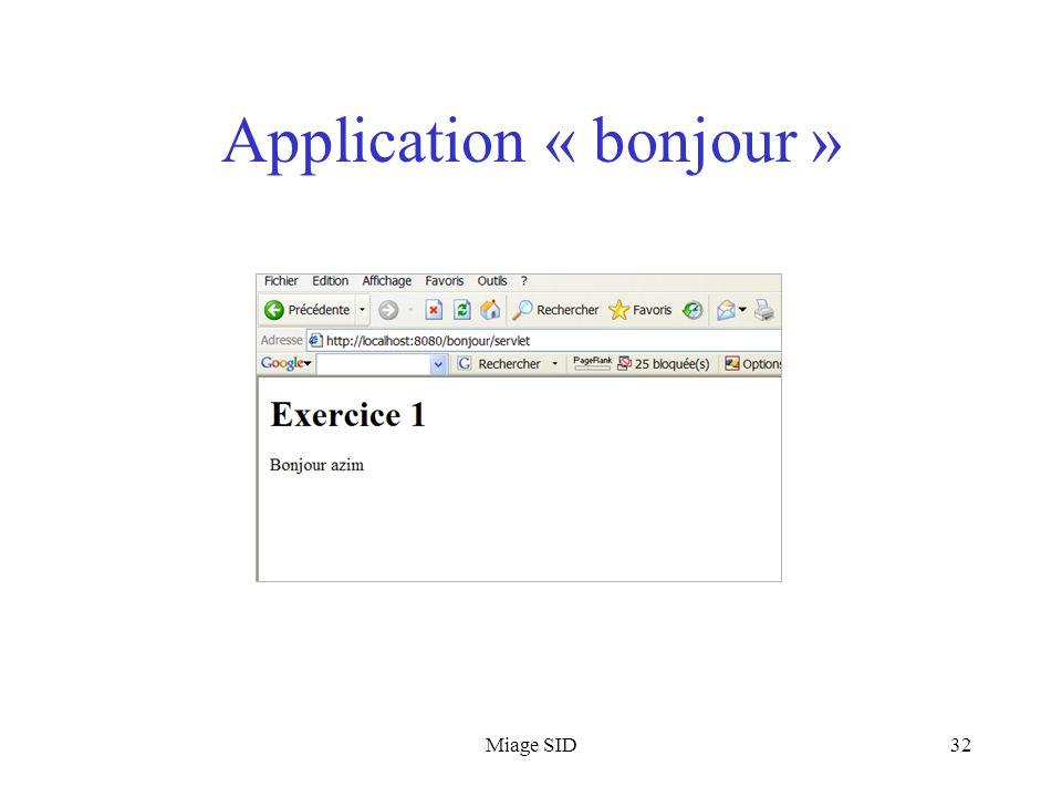 Miage SID32 Application « bonjour »