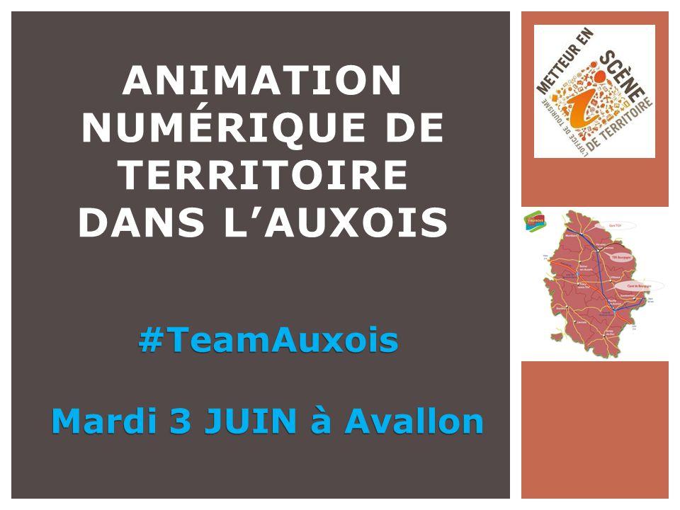 ANIMATION NUMÉRIQUE DE TERRITOIRE DANS L'AUXOIS #TeamAuxois Mardi 3 JUIN à Avallon