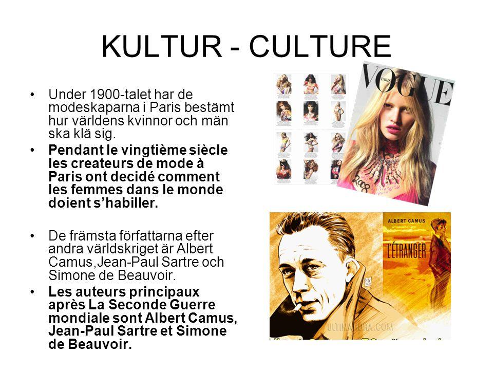 KULTUR - CULTURE Under 1900-talet har de modeskaparna i Paris bestämt hur världens kvinnor och män ska klä sig.