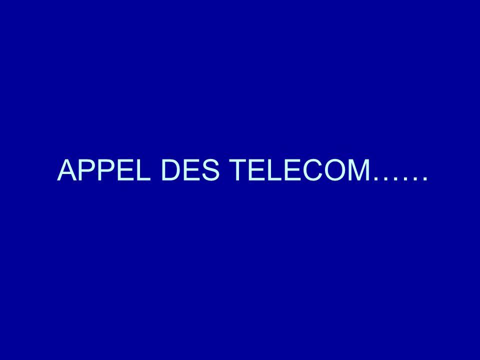 En jaune: l' opératrice des Télécom En blanc: Un utilisateur exemplaire