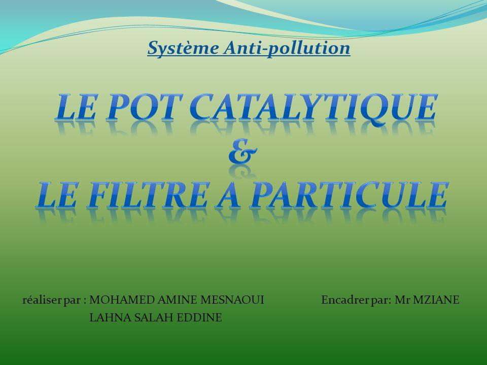 Système Anti-pollution réaliser par : MOHAMED AMINE MESNAOUI LAHNA SALAH EDDINE Encadrer par: Mr MZIANE