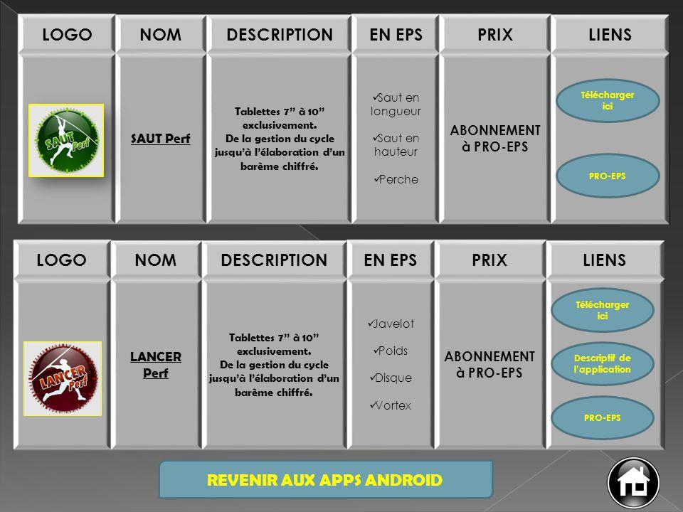 LOGONOMDESCRIPTIONEN EPSPRIXLIENS EPS 3 X 500 Tablettes 7'' à 10'' exclusivement.