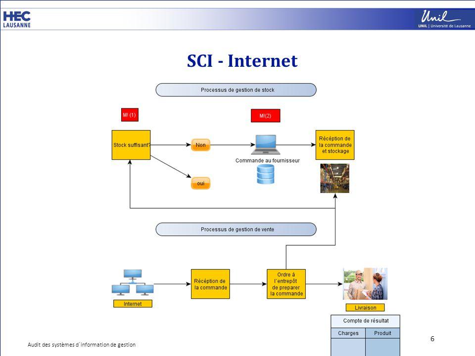 SCI - Internet 6 Audit des systèmes d´information de gestion