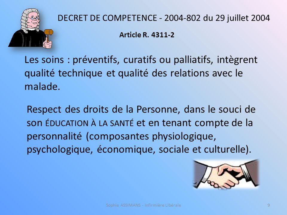Sophie ASSIMANS - Infirmière Libérale29 La Chaîne de Soins à Domicile C.M.P.