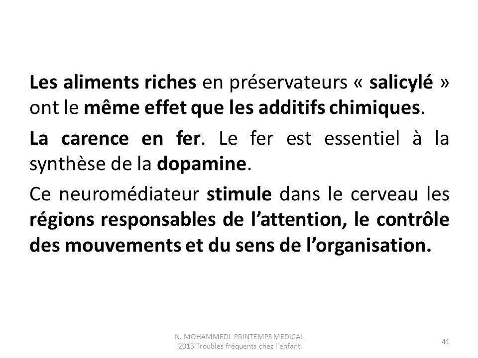 Les aliments riches en préservateurs « salicylé » ont le même effet que les additifs chimiques.