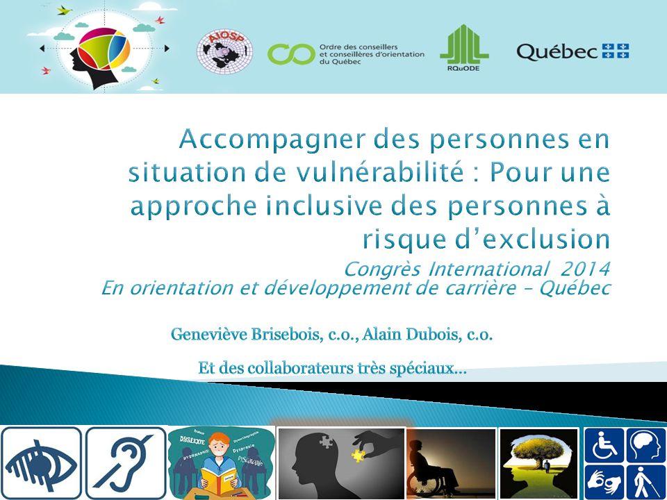 Facteurs de l'intervention qui favorisent l'insertion socioprofessionnelle et la protection des clientèles vulnérables 1.
