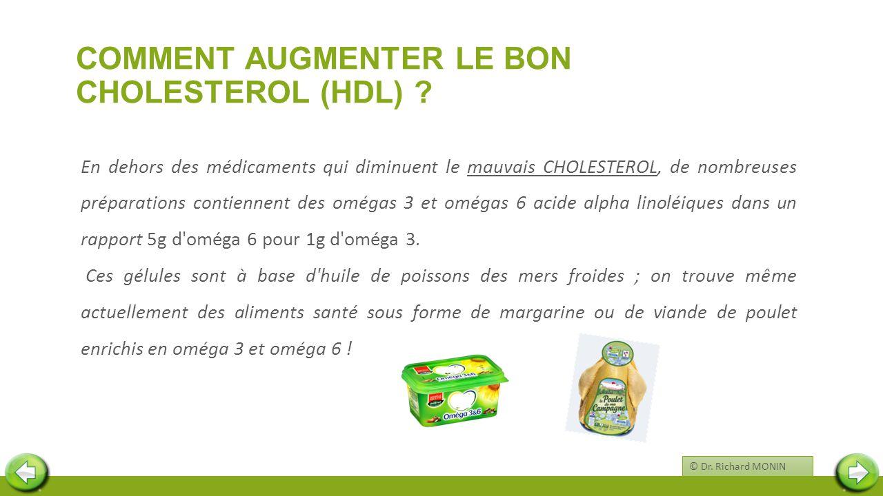 COMMENT AUGMENTER LE BON CHOLESTEROL (HDL) ? En dehors des médicaments qui diminuent le mauvais CHOLESTEROL, de nombreuses préparations contiennent de