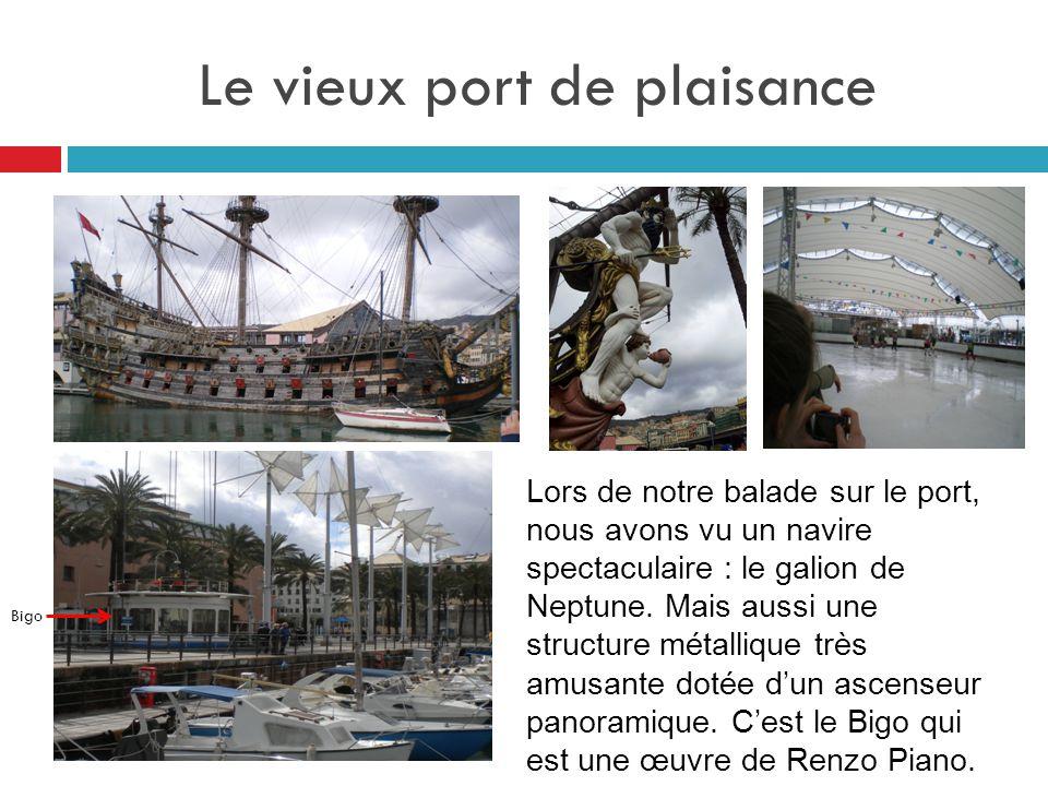Le vieux port de plaisance Lors de notre balade sur le port, nous avons vu un navire spectaculaire : le galion de Neptune. Mais aussi une structure mé