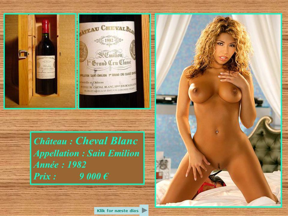 Château : Yquem Appellation : Sauternes Année : 1940 Prix : 9 000 € Klik for næste dias