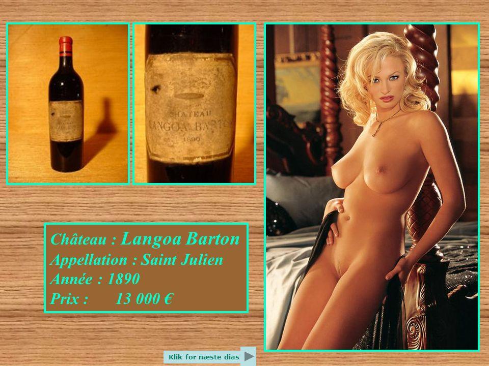 Château : Iquem Appellation : Sauternes Année : 1925 Prix : 11 000 € Klik for næste dias