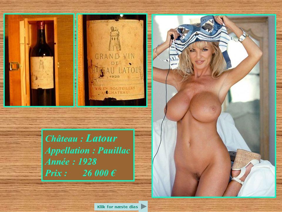 Château : La Mission Haut Brion Appellation : Pessac Leognan Année : 1959 Prix : 20 000 € Klik for næste dias
