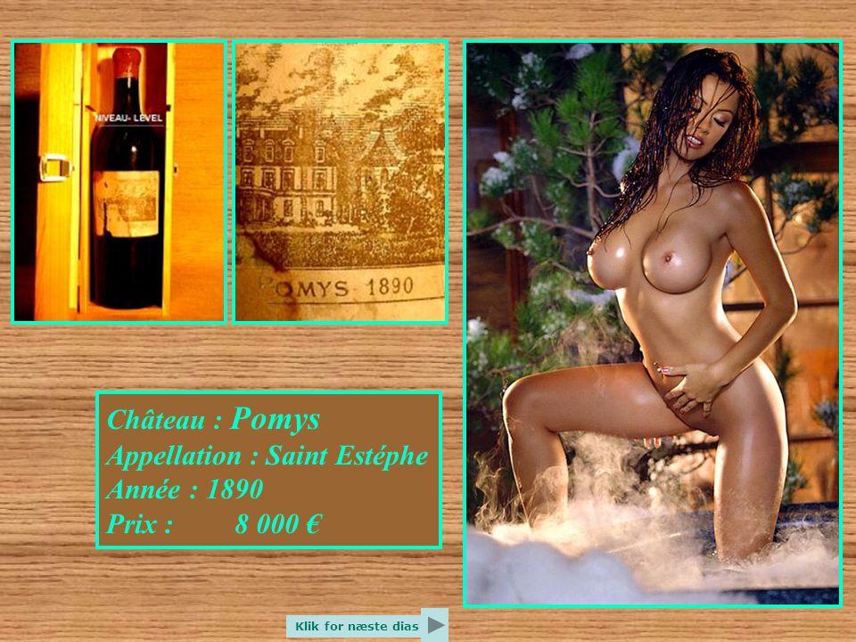 Château : Roquebrune Appellation : Armagnac Année : 1893 Prix : 7 600 € Klik for næste dias