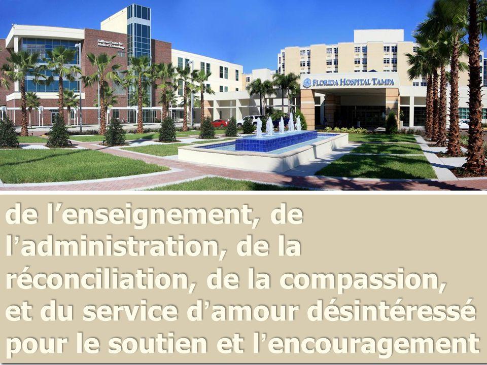 de l'enseignement, de l ' administration, de la réconciliation, de la compassion, et du service d ' amour désintéressé pour le soutien et l ' encouragement