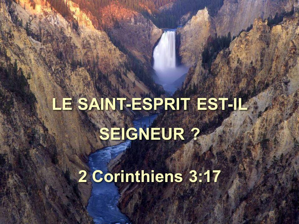 Le Seigneur, c'est l'Esprit, et là où est l'Esprit du Seigneur, là est la liberté.