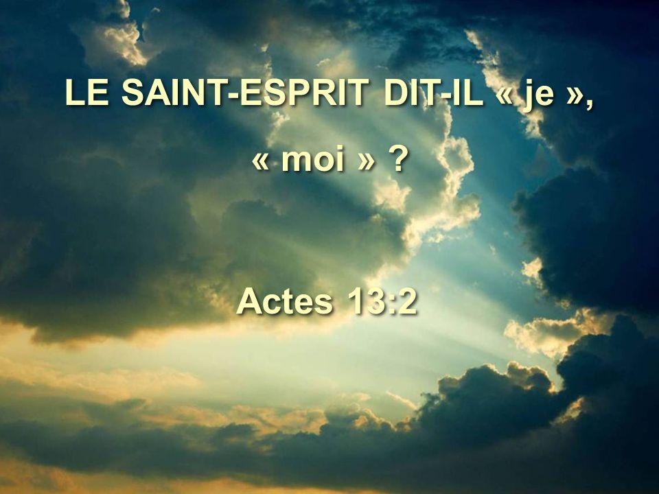 Le Saint-Esprit dit : Mettez à part pour moi Barnabas et Saul, pour l'œuvre à laquelle je les ai appelés.
