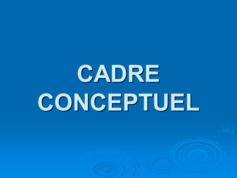 CADRE CONCEPTUEL