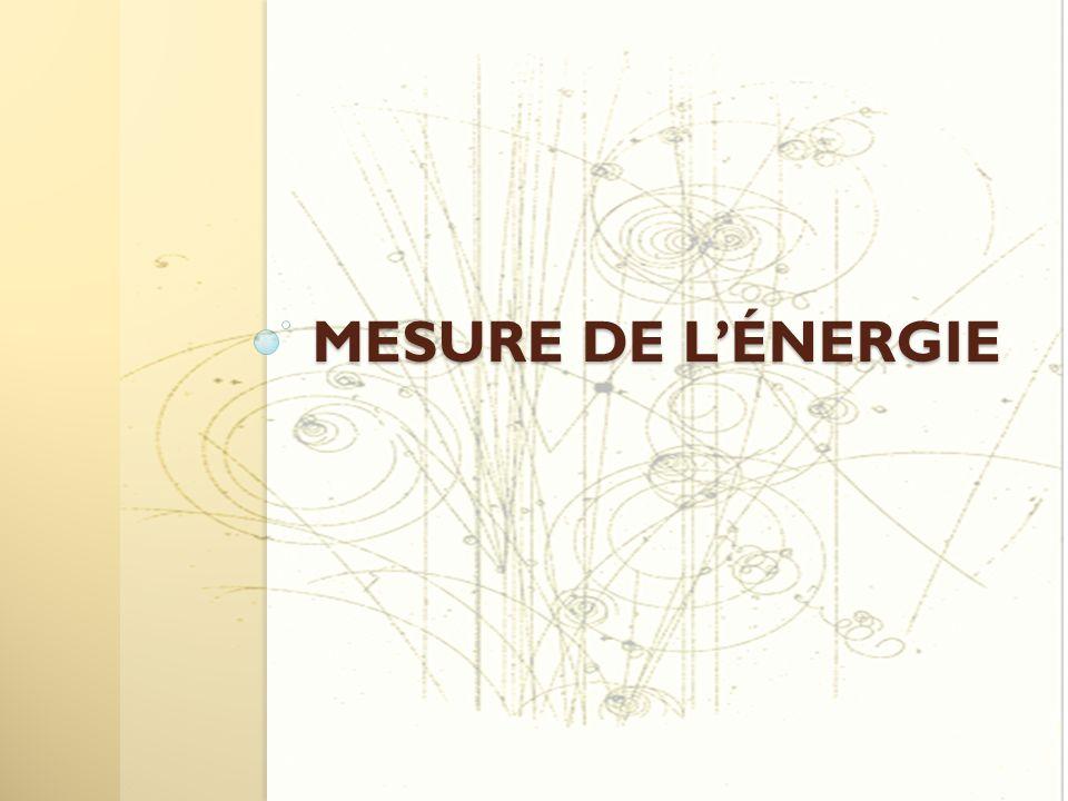 MESURE DE L'ÉNERGIE