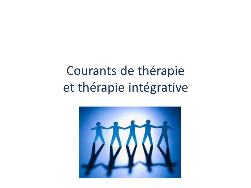 Courants de thérapie et thérapie intégrative