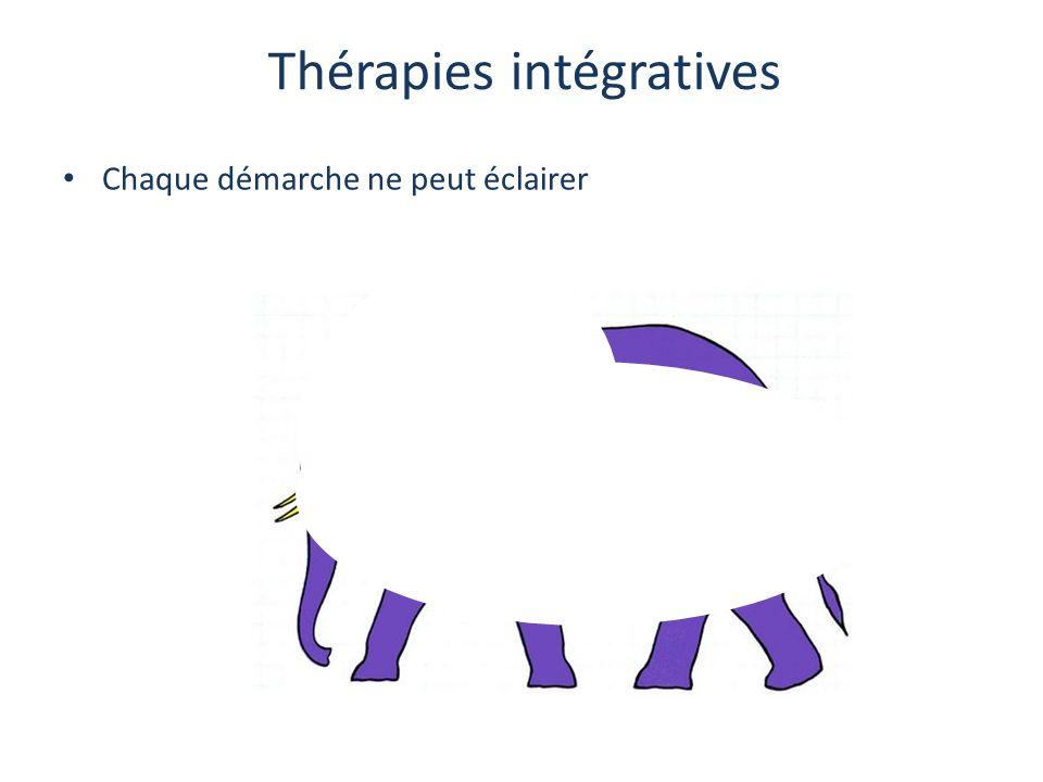 Thérapies intégratives Chaque démarche ne peut éclairer