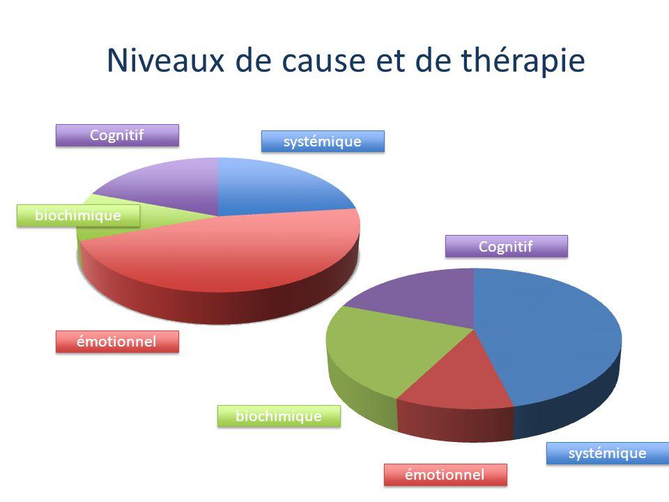 Niveaux de cause et de thérapie systémique émotionnel biochimique Cognitif