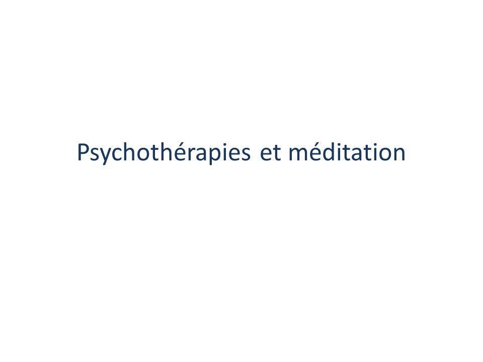 Psychothérapies et méditation