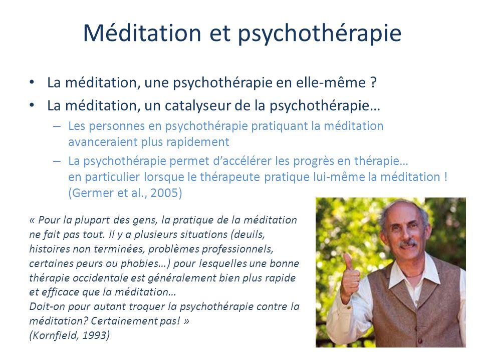 Méditation et psychothérapie La méditation, une psychothérapie en elle-même ? La méditation, un catalyseur de la psychothérapie… – Les personnes en ps