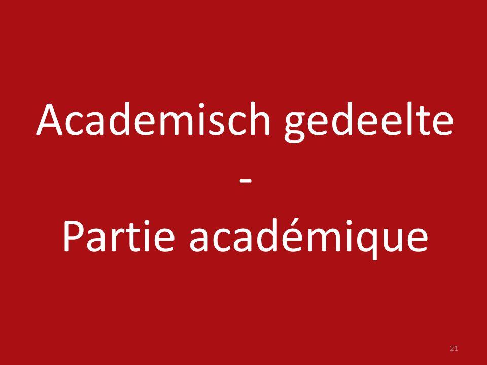 21 Academisch gedeelte - Partie académique