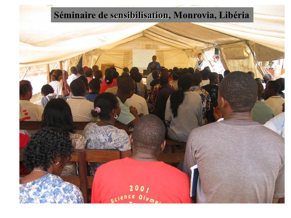 sensibilisation Séminaire de sensibilisation, Monrovia, Libéria