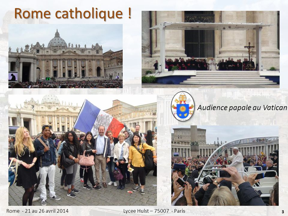 Rome catholique .