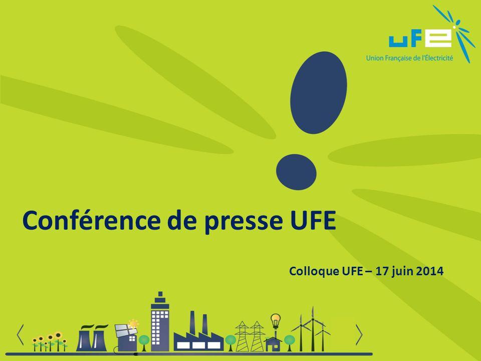 Conférence de presse UFE Colloque UFE – 17 juin 2014