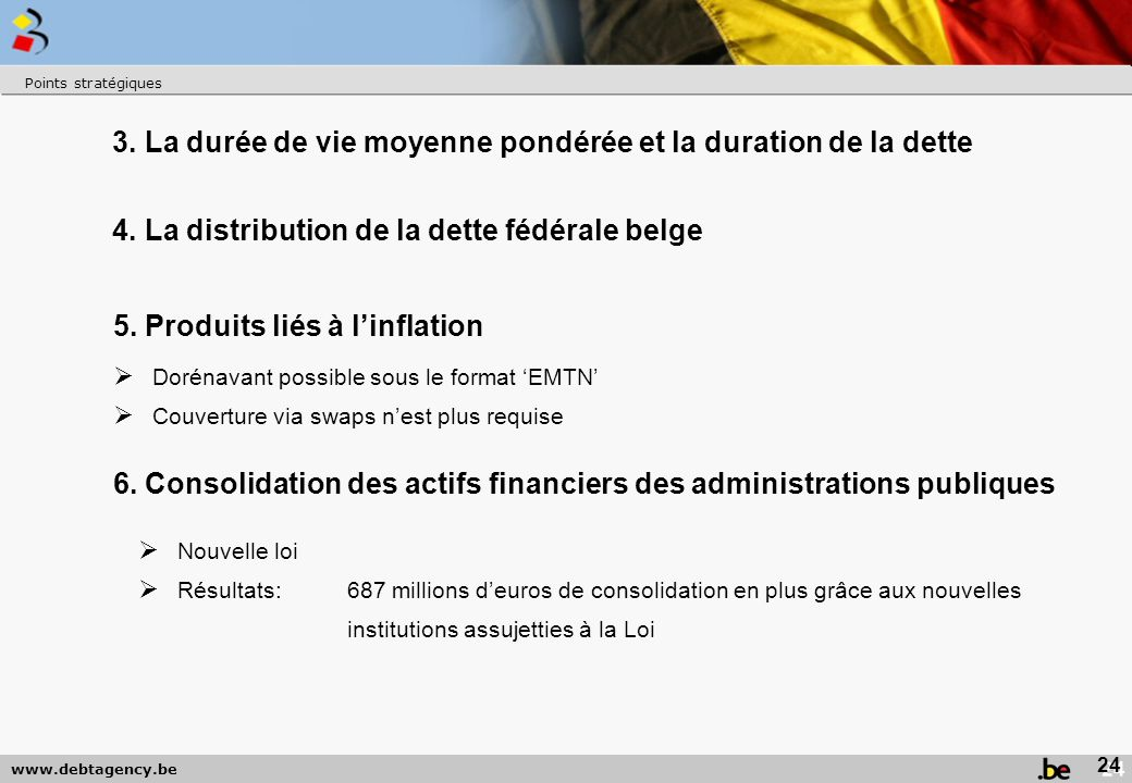 www.debtagency.be Points stratégiques 25 7.