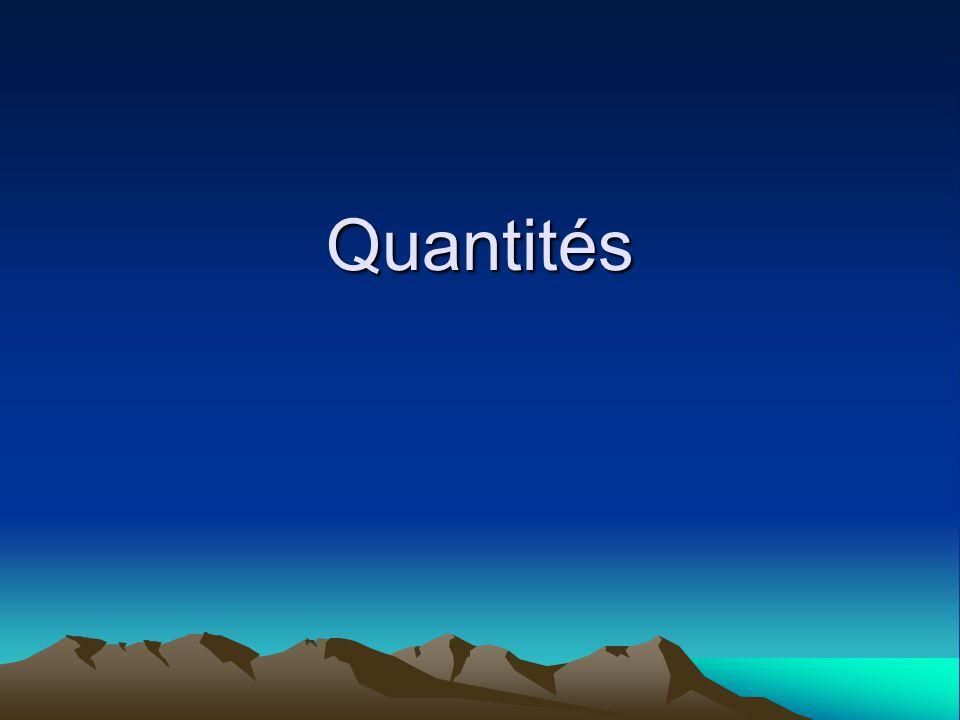 Quantités