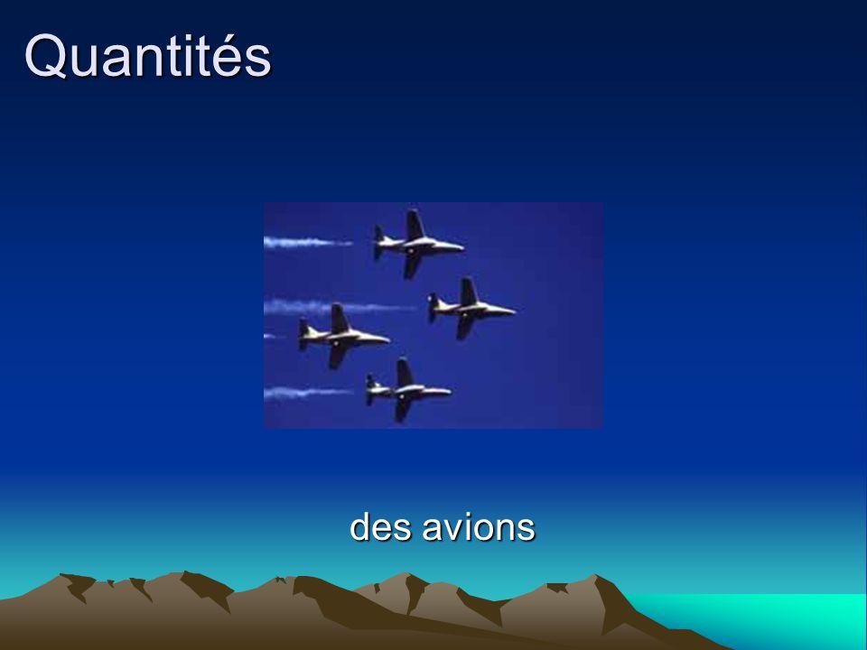 Quantités des avions des avions
