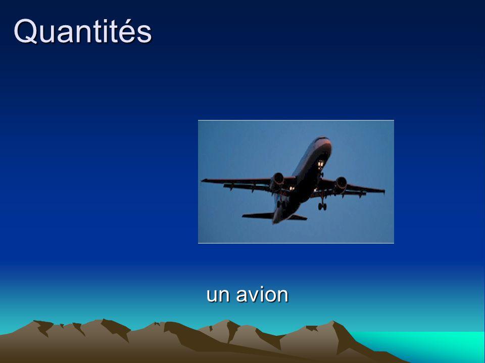 Quantités un avion un avion