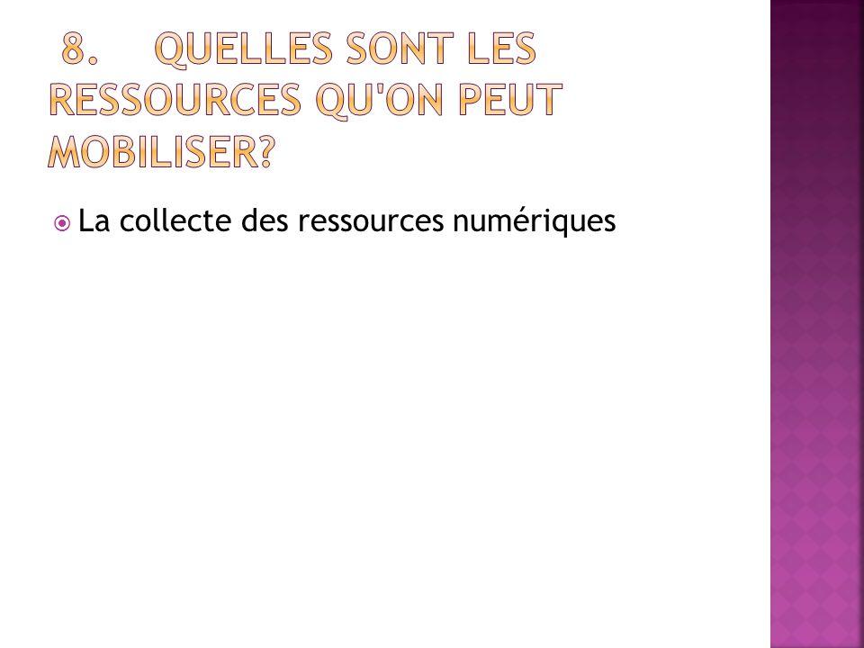  La collecte des ressources numériques