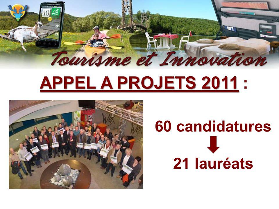 APPEL A PROJETS 2011 APPEL A PROJETS 2011 : 60 candidatures 21 lauréats